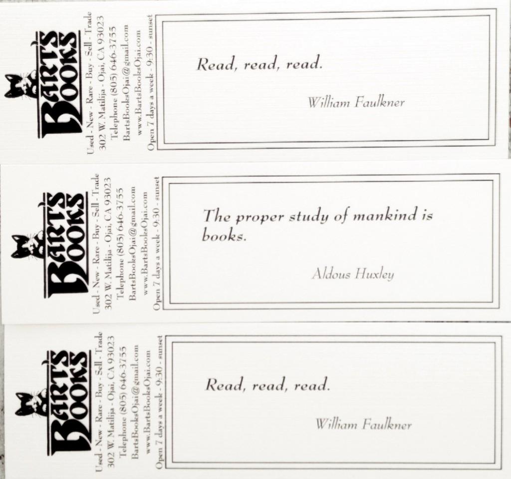 Barts Books Bookmarks