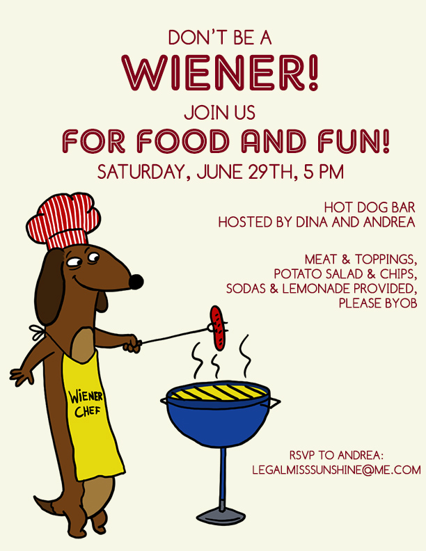 Hot Dog Party Invite