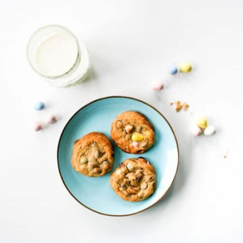Cadbury Mini Egg Chocolate Chip Cookies