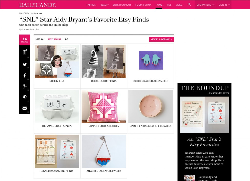 Daily Candy Etsy Finds