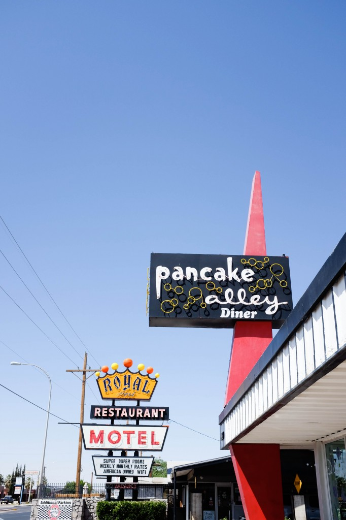 Pancake Alley, Vintage Neon Sign, Las Cruces