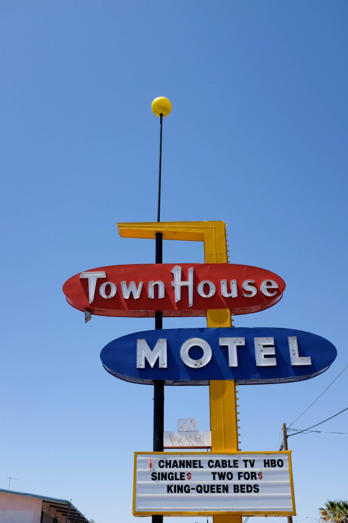 Town House Motel, Vintage Neon Sign, Las Cruces