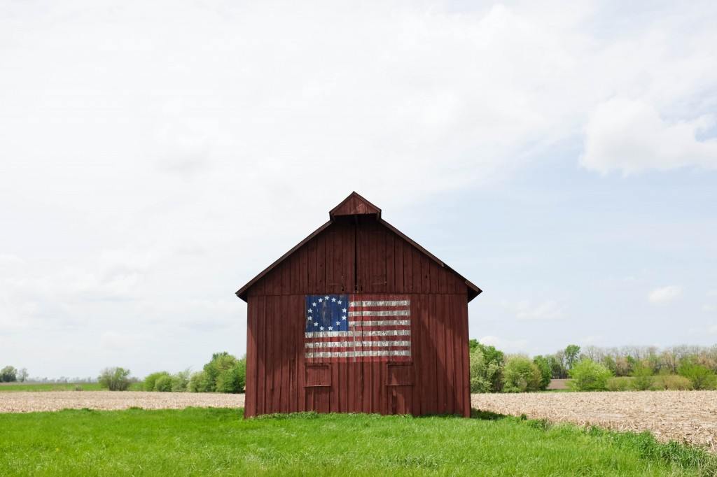 Springfield St Louis Route 66 American Flag Barn