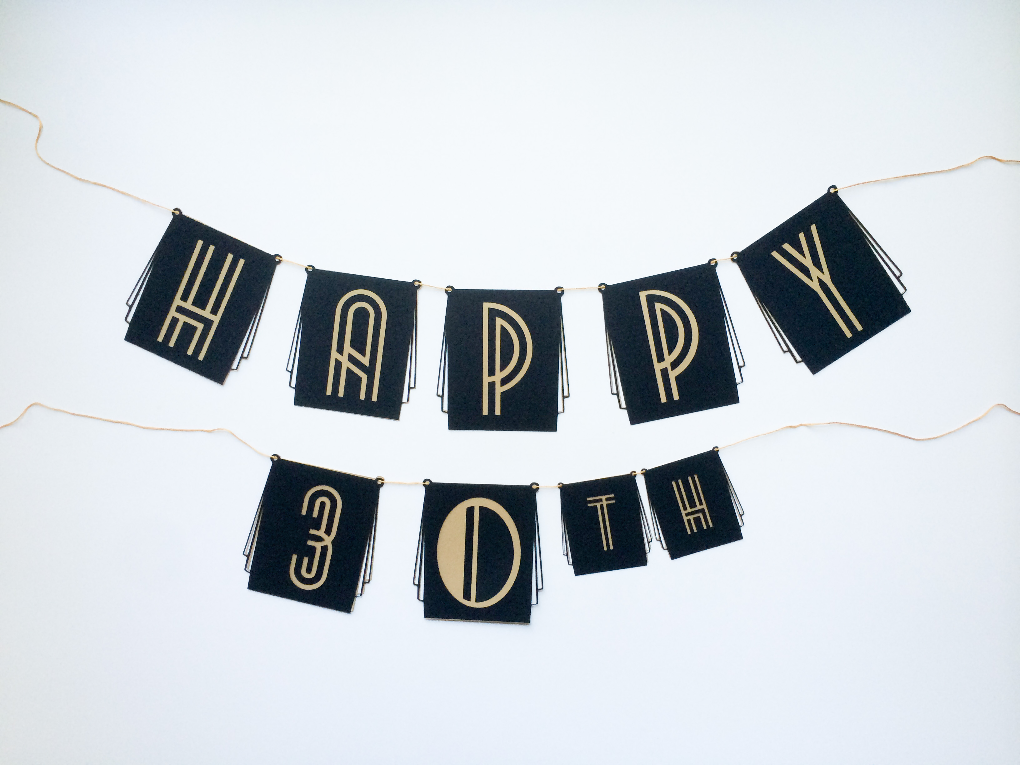Happy Birthday Fonts ~ Diy roaring 20s birthday or new years eve party banner! salty canary