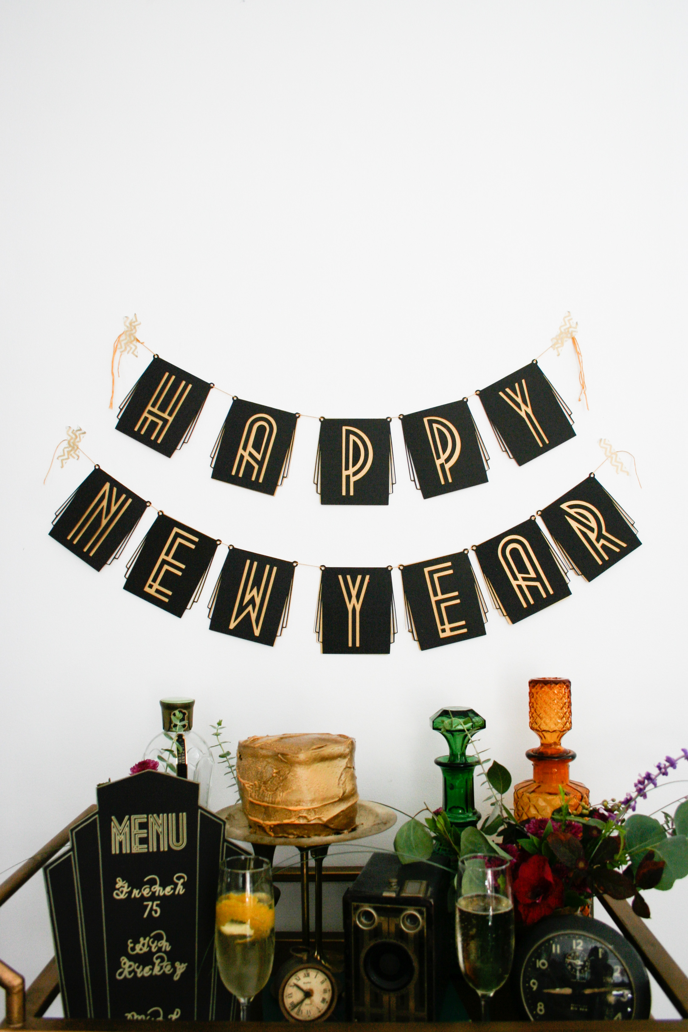 DIY Roaring '20s Birthday or New Years Eve Party Banner!