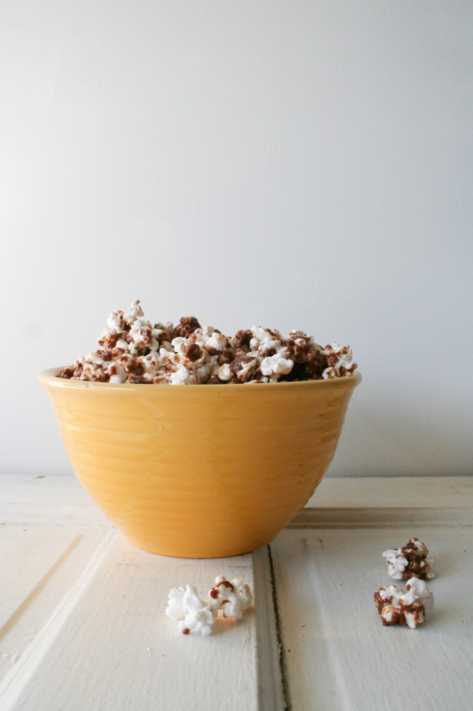 Chocolate Peanut Butter Popcorn - Legal Miss Sunshine