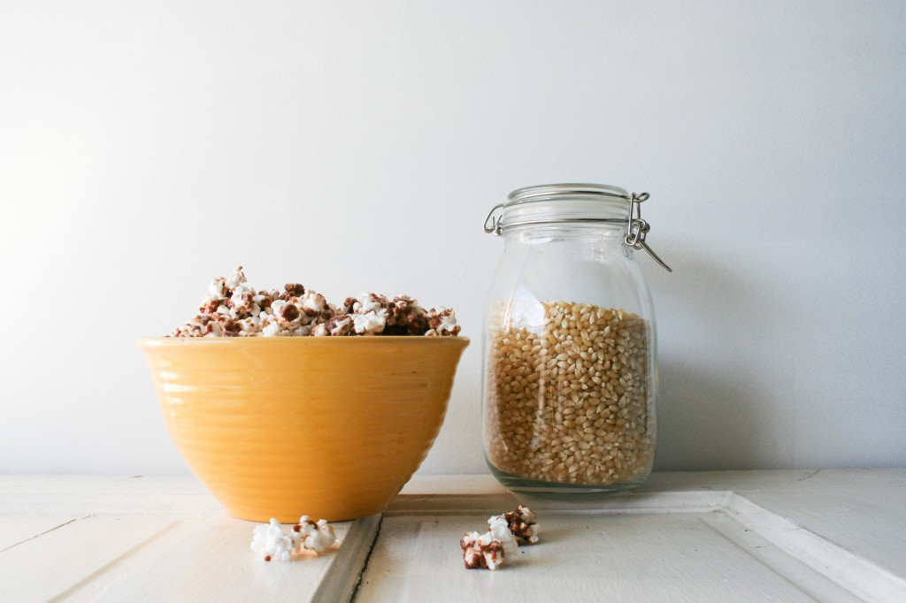 Chocolate Peanut Butter Popcorn - Legal Miss Sunshine