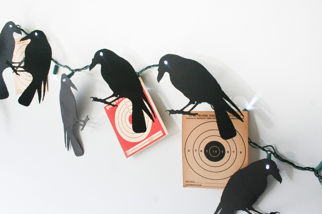 DIY Creepy Crow Garland