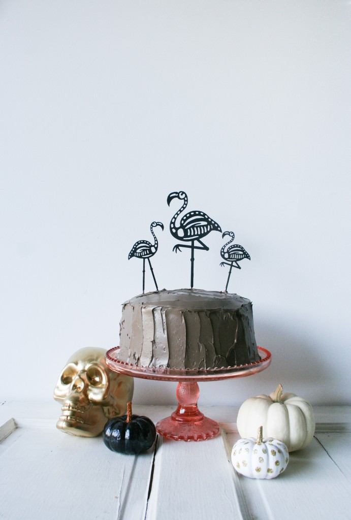Halloween Skeleton Flamingo Cake Toppers - Legal Miss Sunshine