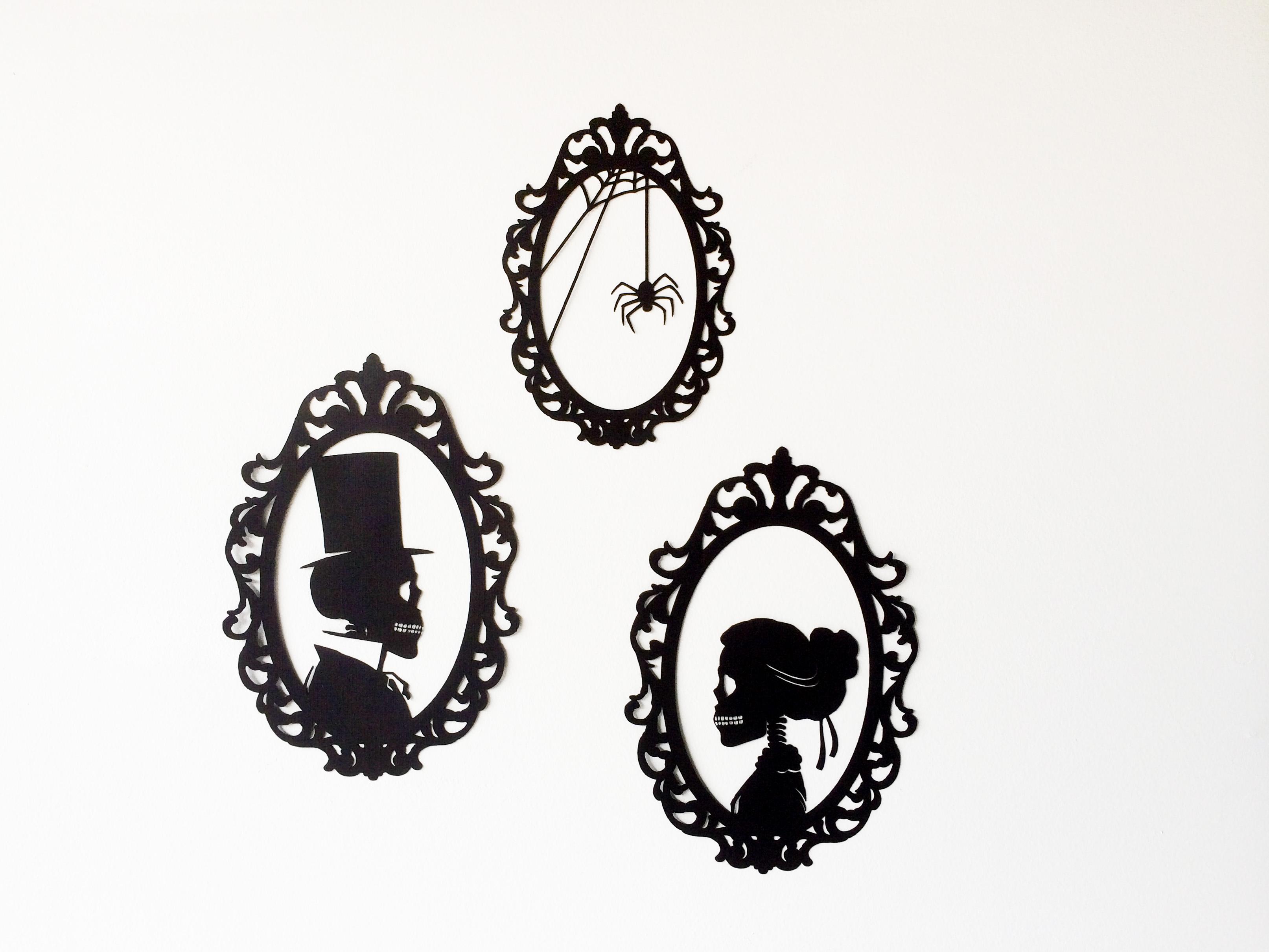 DIY Skeleton Silhouettes