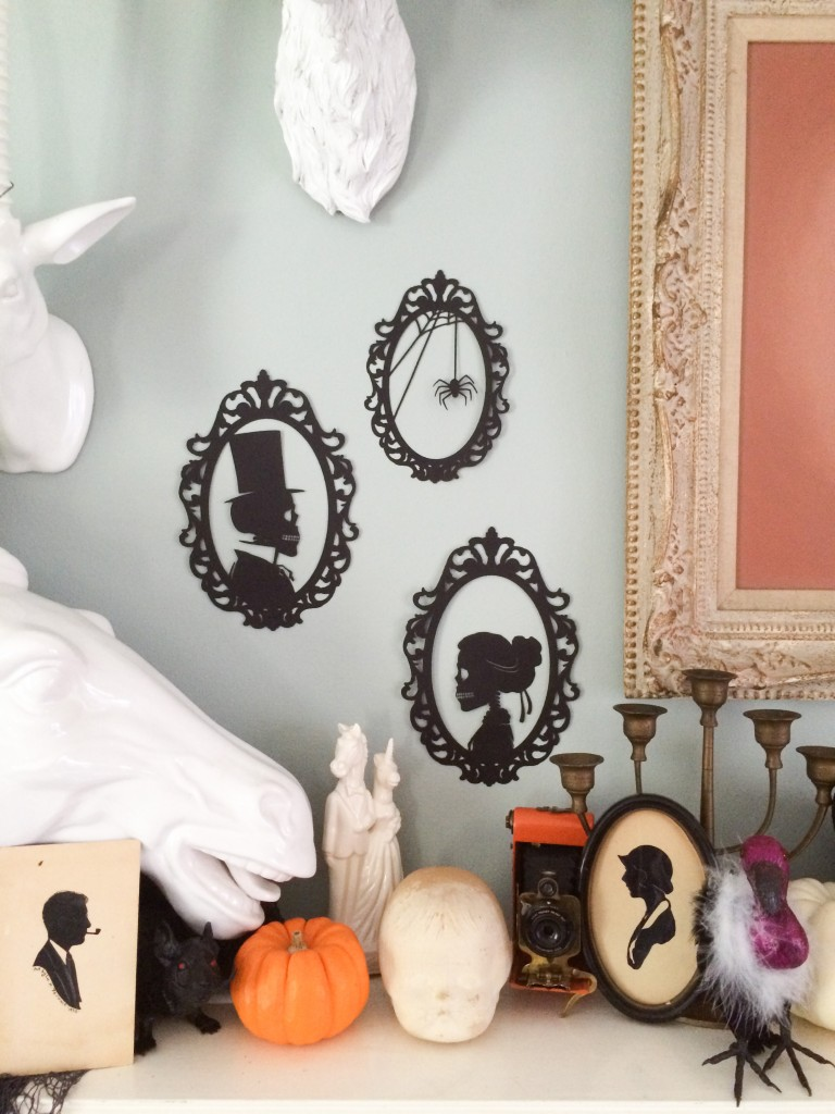 DIY these Skeleton Silhouettes for your wall for Halloween // Salty Canary