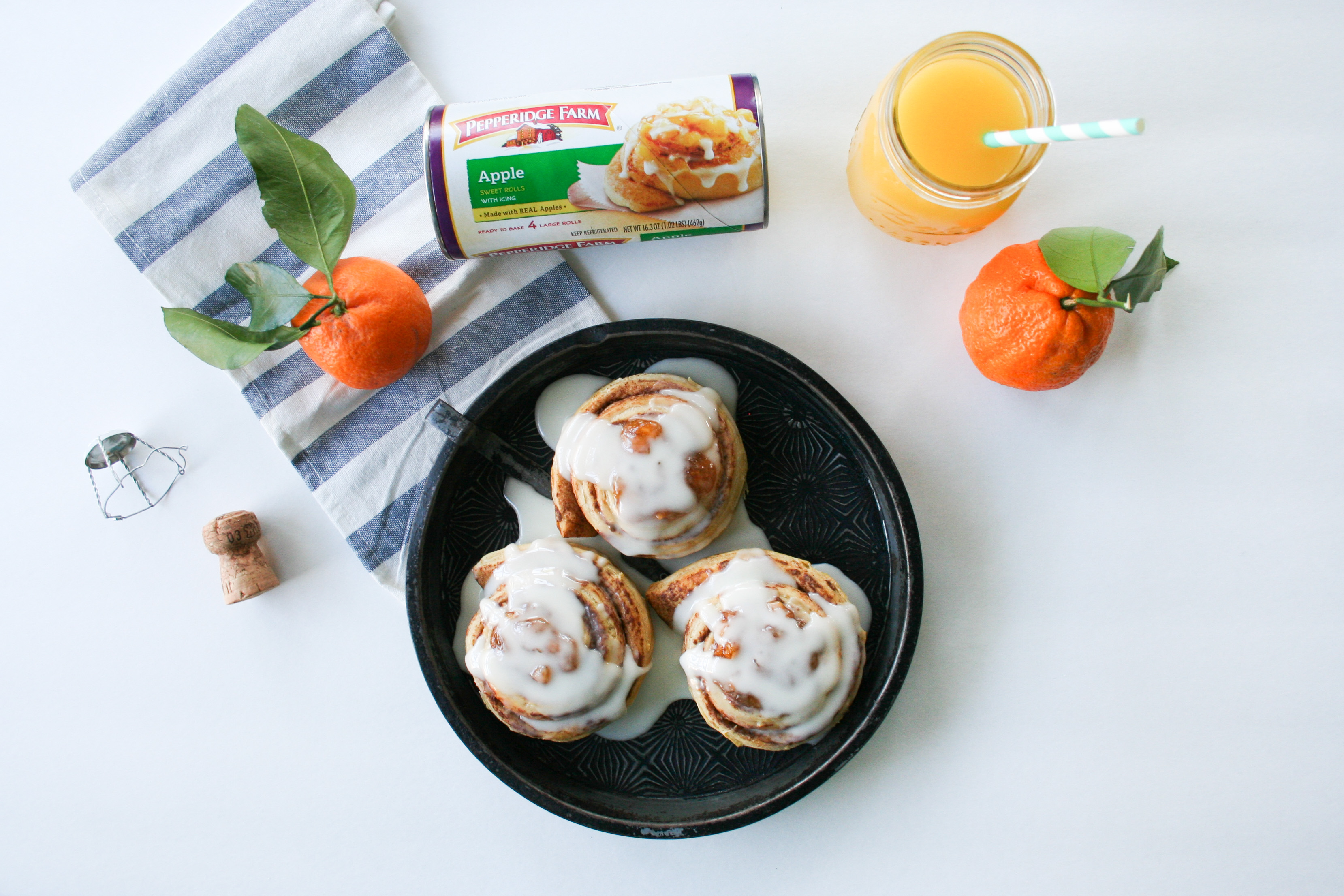 Apple Cinnamon Rolls Mimosa Glaze - Legal Miss Sunshine