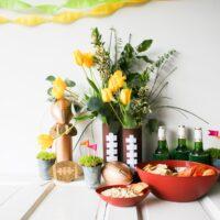 Creamy Avocado Chipotle Dip & Football Crafts