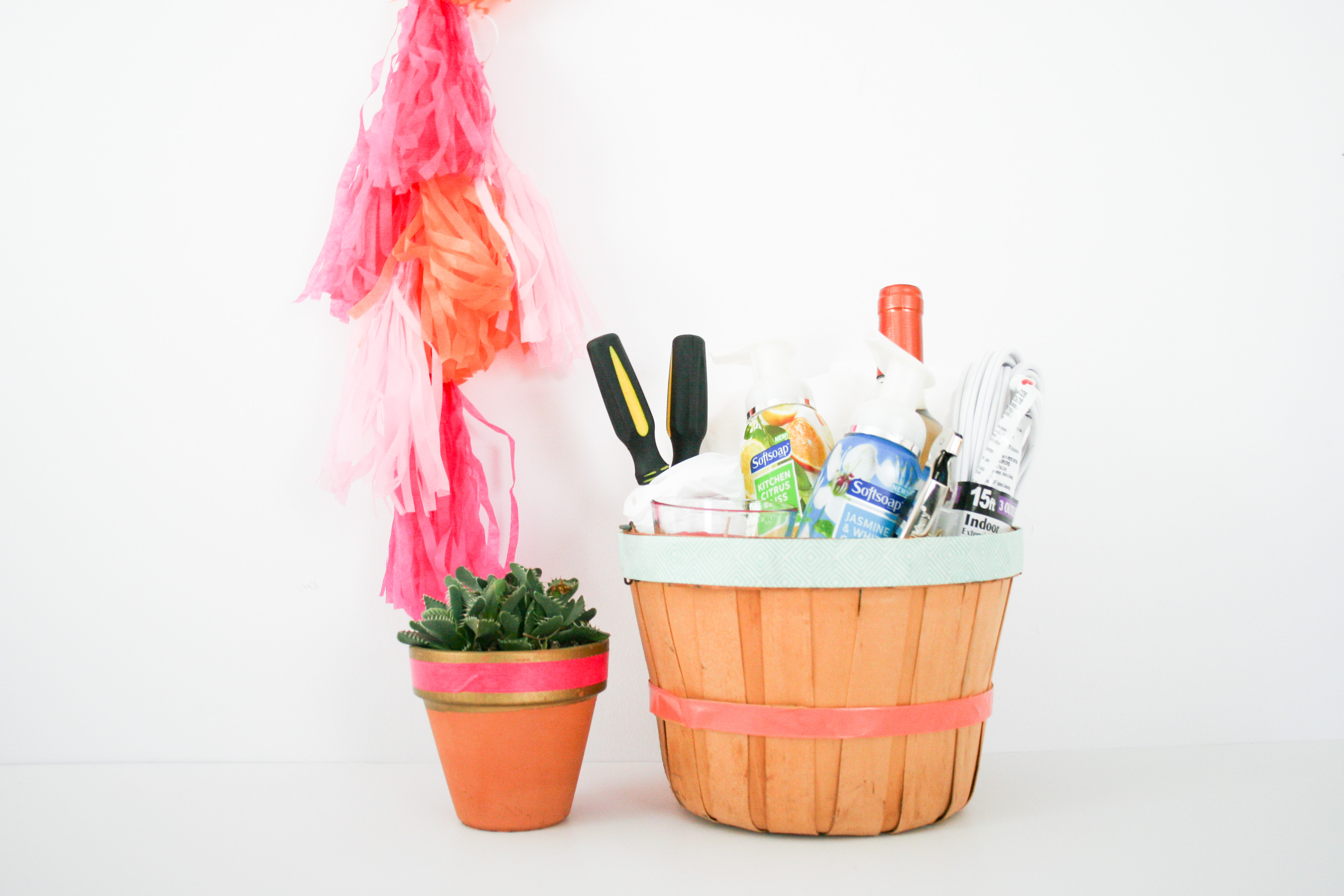 Moving Day Housewarming Gift Basket DIY - Legal Miss Sunshine