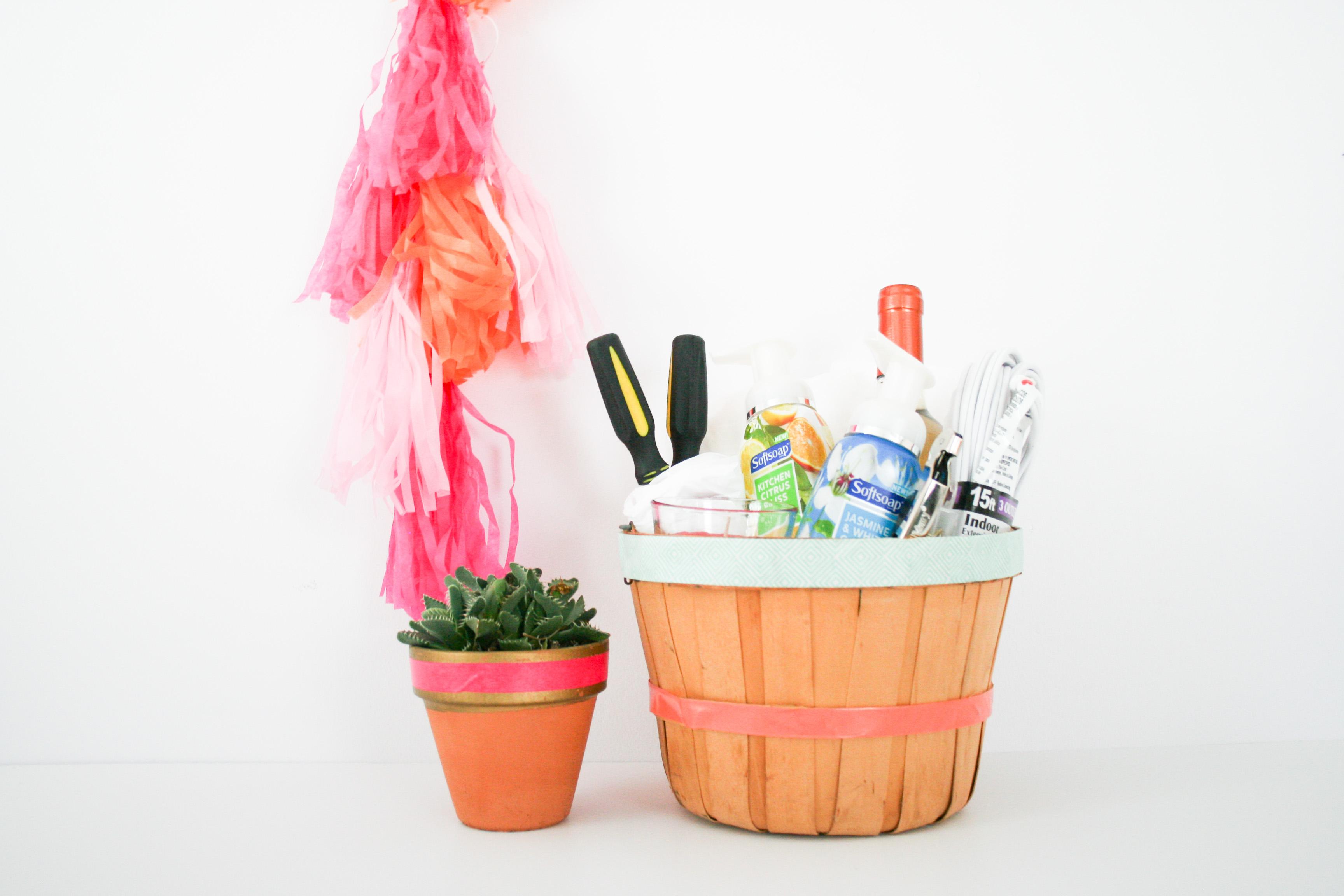 Moving Day Housewarming Gift Basket DIY