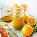 Honey Lemon Vinaigrette Salad Dressing // Salty Canary