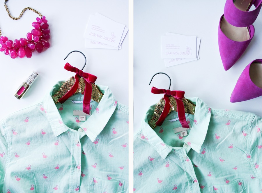 DIY Sequin Clothes Hanger - Legal Miss Sunshine
