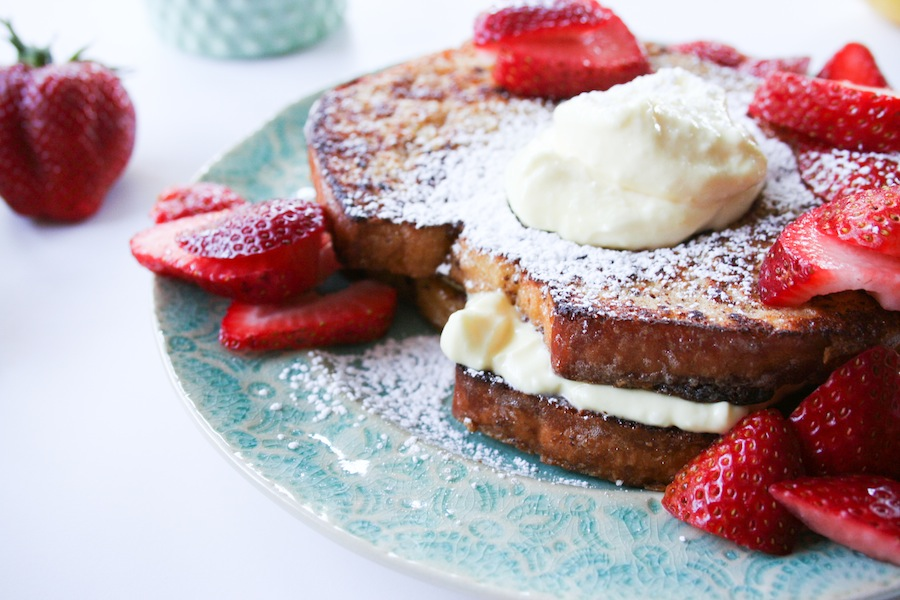 Lemon Cream Cheese Stuffed French Toast - Legal Miss Sunshine
