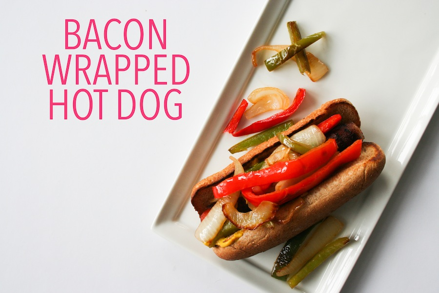 Bacon Wrapped Hot Dog Recipe // Legal Miss Sunshine