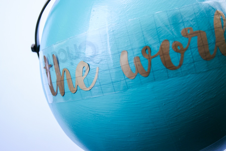 Anthropologie Inspired DIY Globe made with Cricut Explore // Legal Miss Sunshine