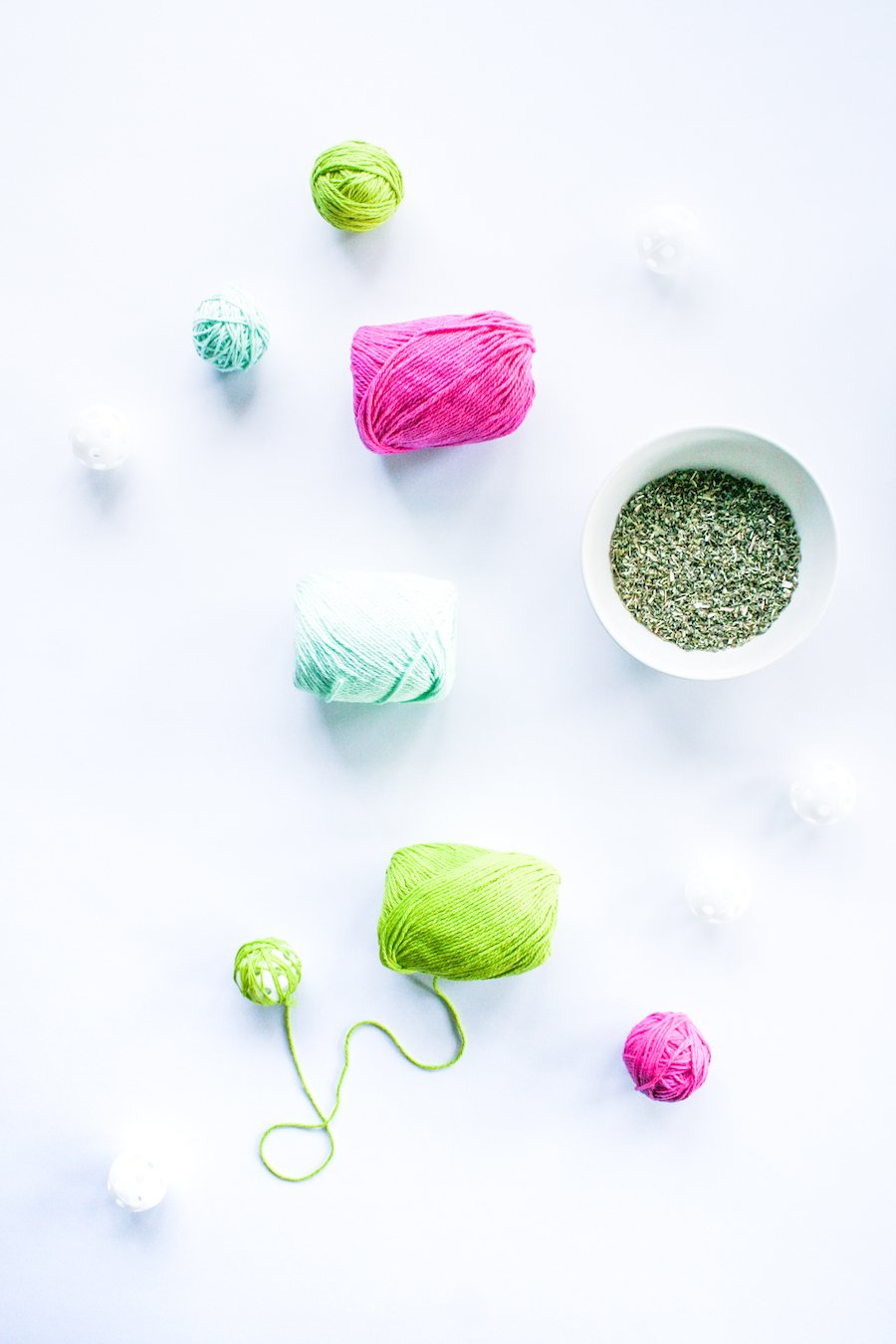 DIY Catnip Yarn Balls // Salty Canary