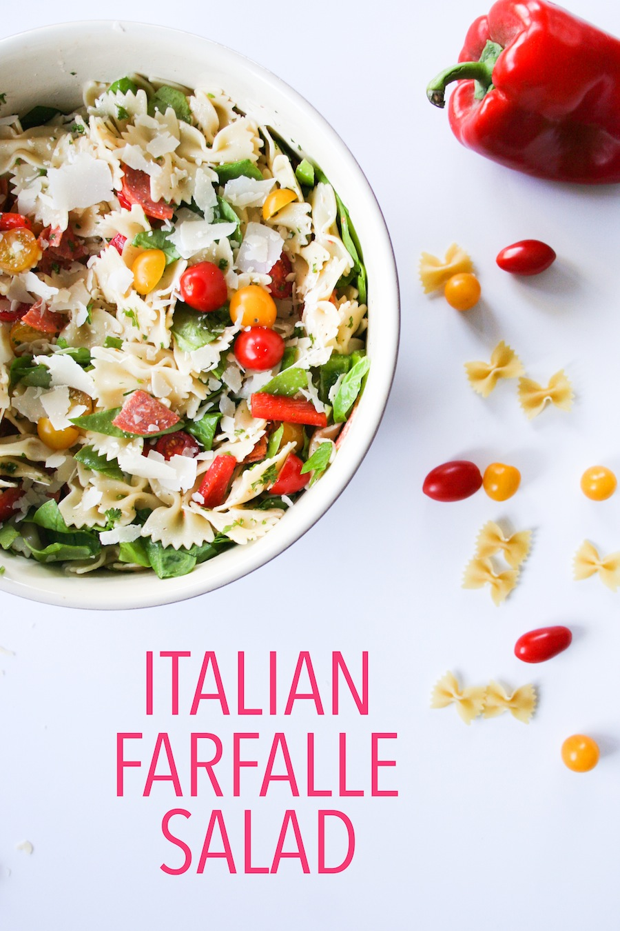 Simple Summer Farfalle Pasta Salad