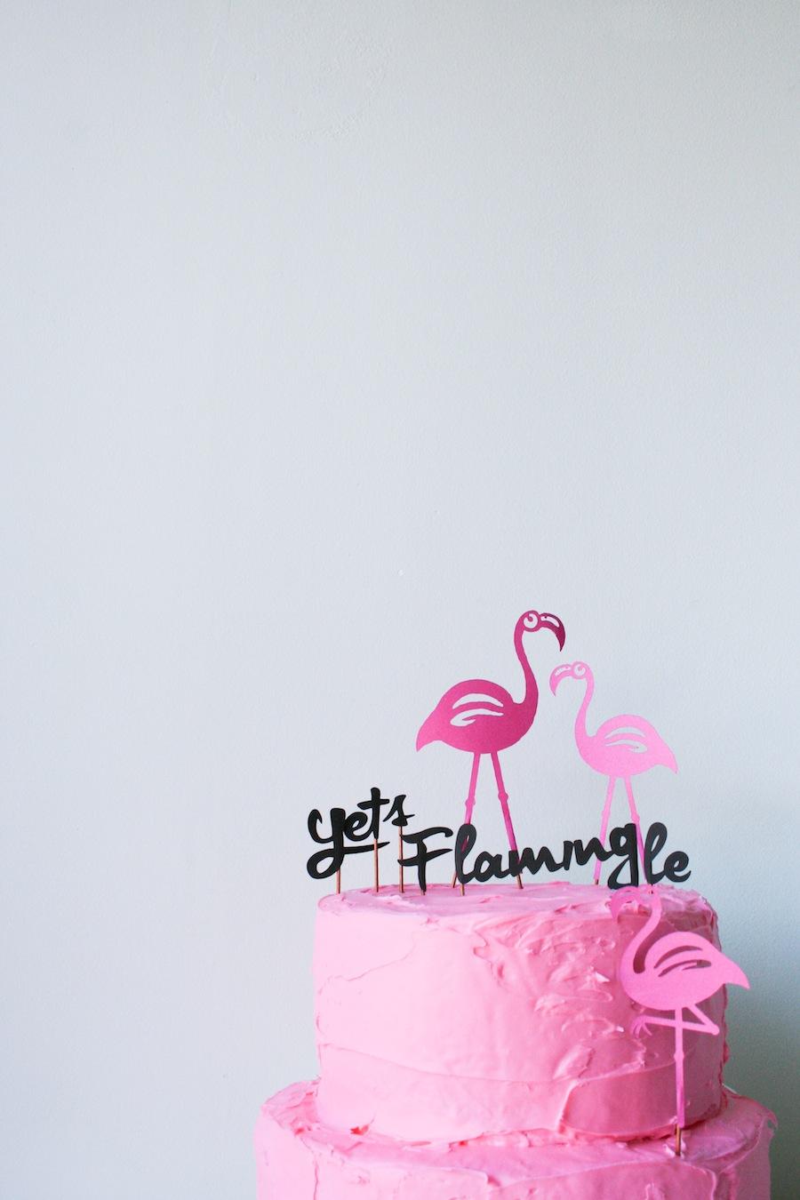 flamingo walker cake topper. Black Bedroom Furniture Sets. Home Design Ideas