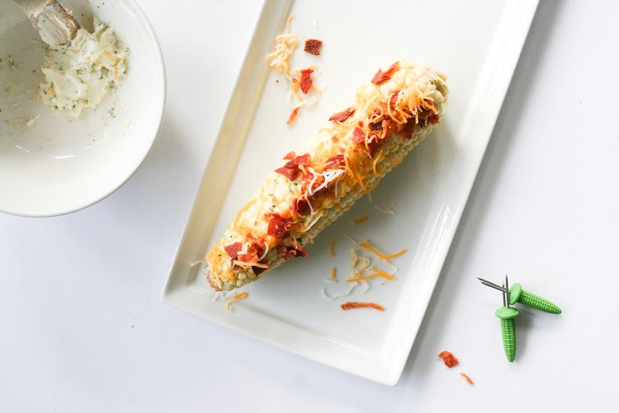 Cheddar Bacon Ranch Grilled Corn Recipe // Legal Miss Sunshine