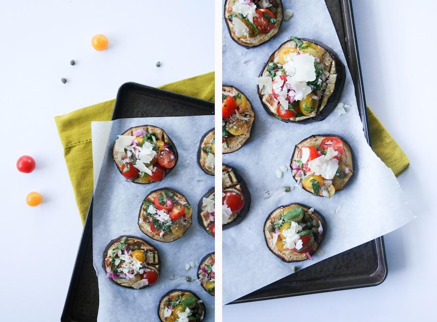 Grilled Eggplant Bruschetta Recipe // Legal Miss Sunshine