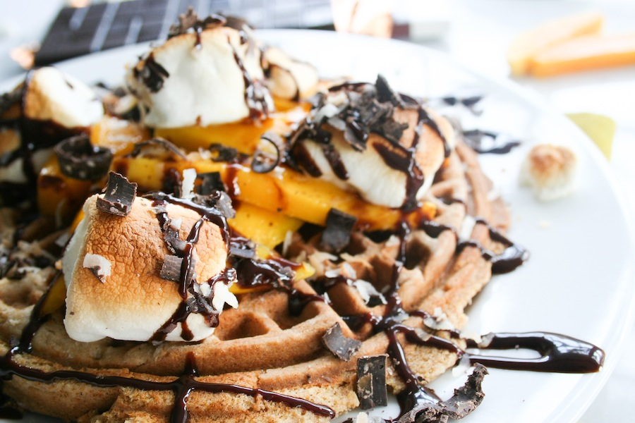 Mango Coconut S'mores Waffle Recipe // Legal Miss Sunshine