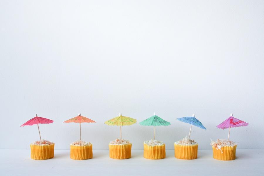 Pina Colada Cupcakes // Legal Miss Sunshine