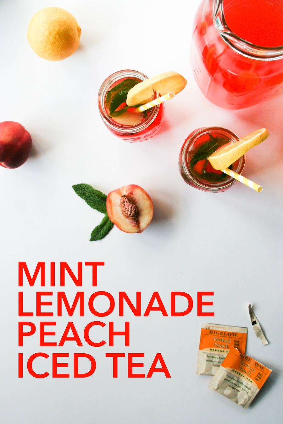Mint Lemonade Peach Iced Tea Recipe // Legal Miss Sunshine