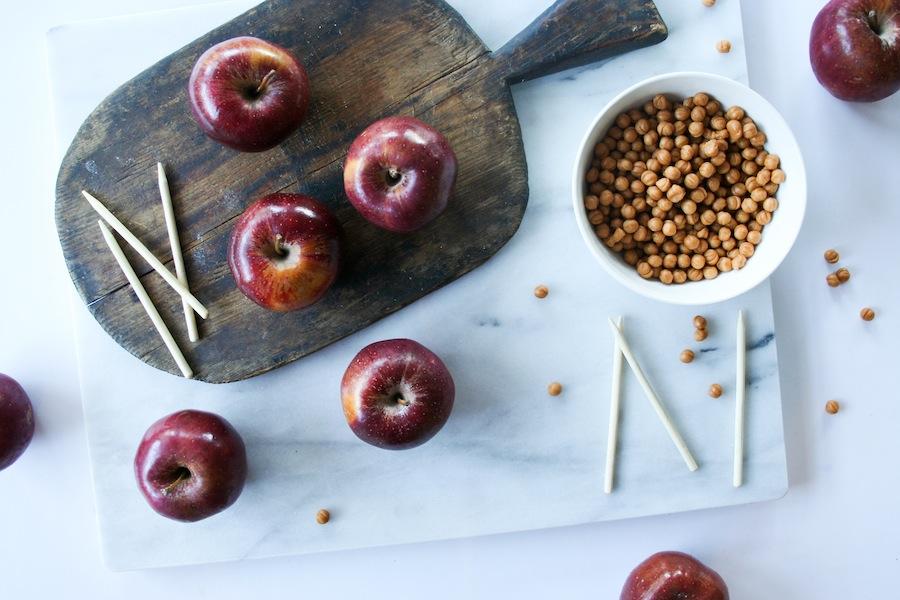 White Chocolate Potato Chip Caramel Apple Recipe // Legal Miss Sunshine