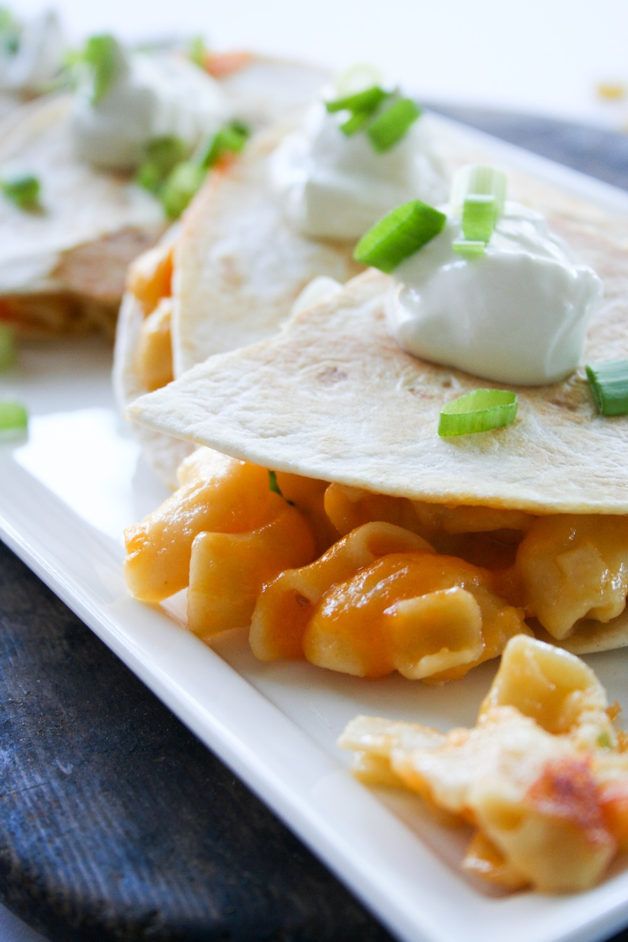 Mac and Cheese Quesadilla Recipe // Legal Miss Sunshine