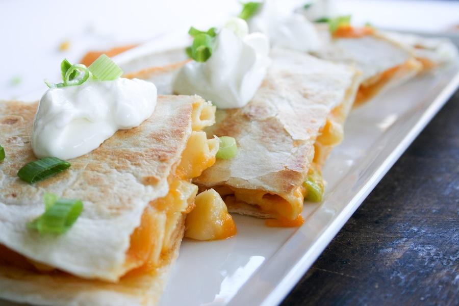 Mac and Cheese Quesadilla Recipe // Legal Miss Sunshine
