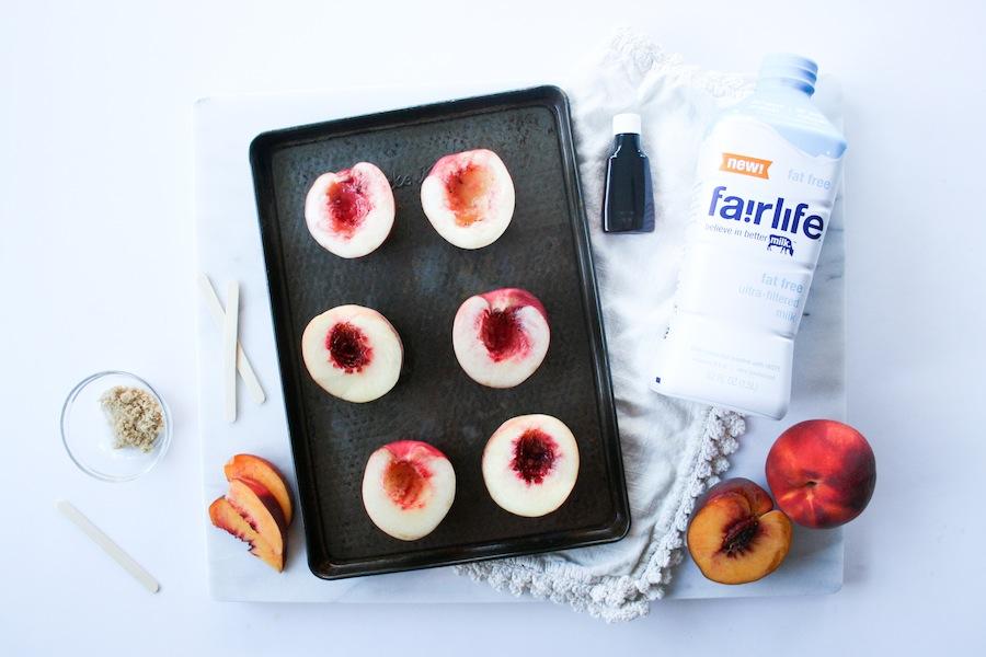 Peaches and Cream Popsicles Recipe // Legal Miss Sunshine