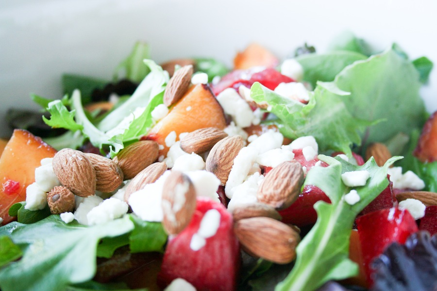 Peach & Pluot Stone Fruit Salad Recipe // Legal Miss Sunshine