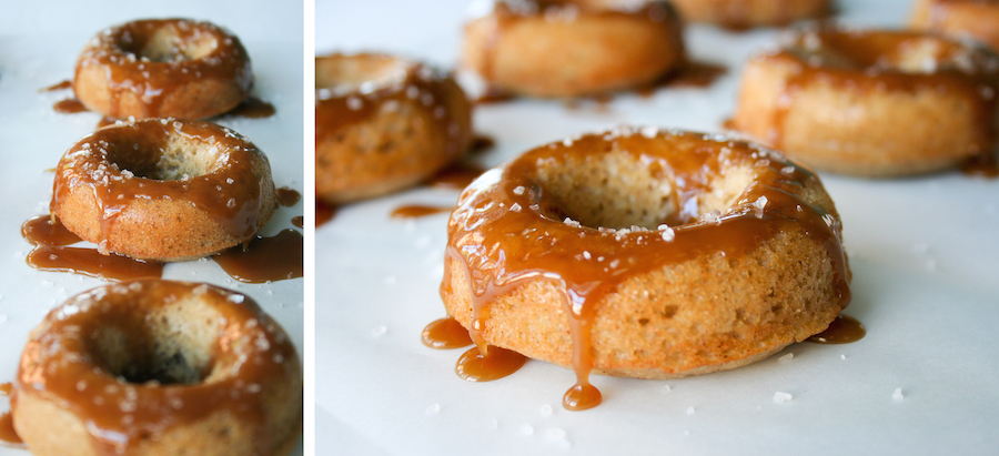 Apple Cider Donuts with a Salted Caramel Glaze // 13 Nights of Donuts ...
