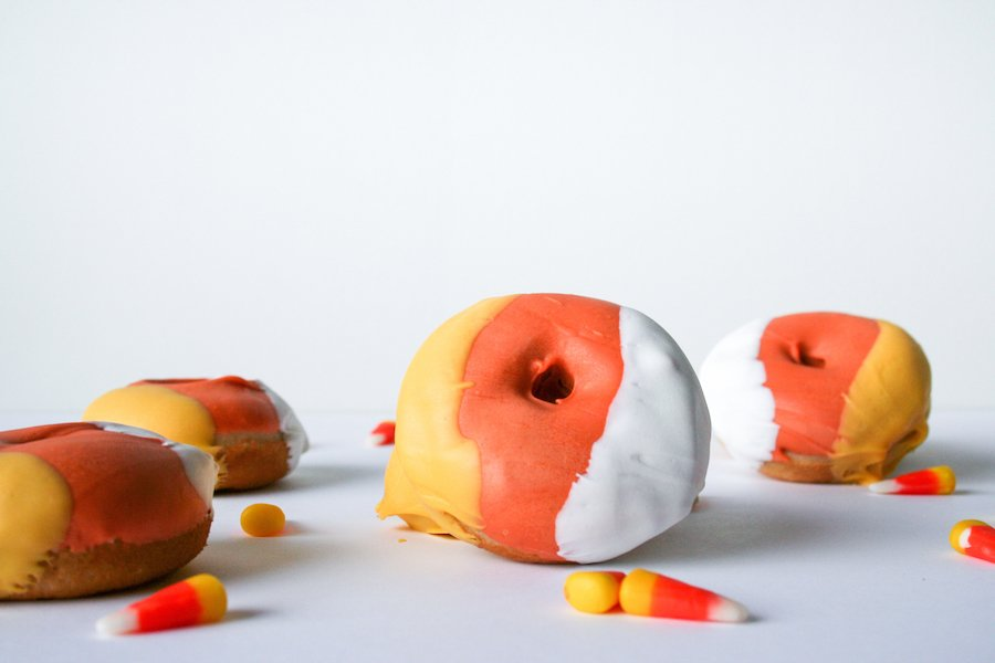 Candy Corn Donuts // Salty Canary