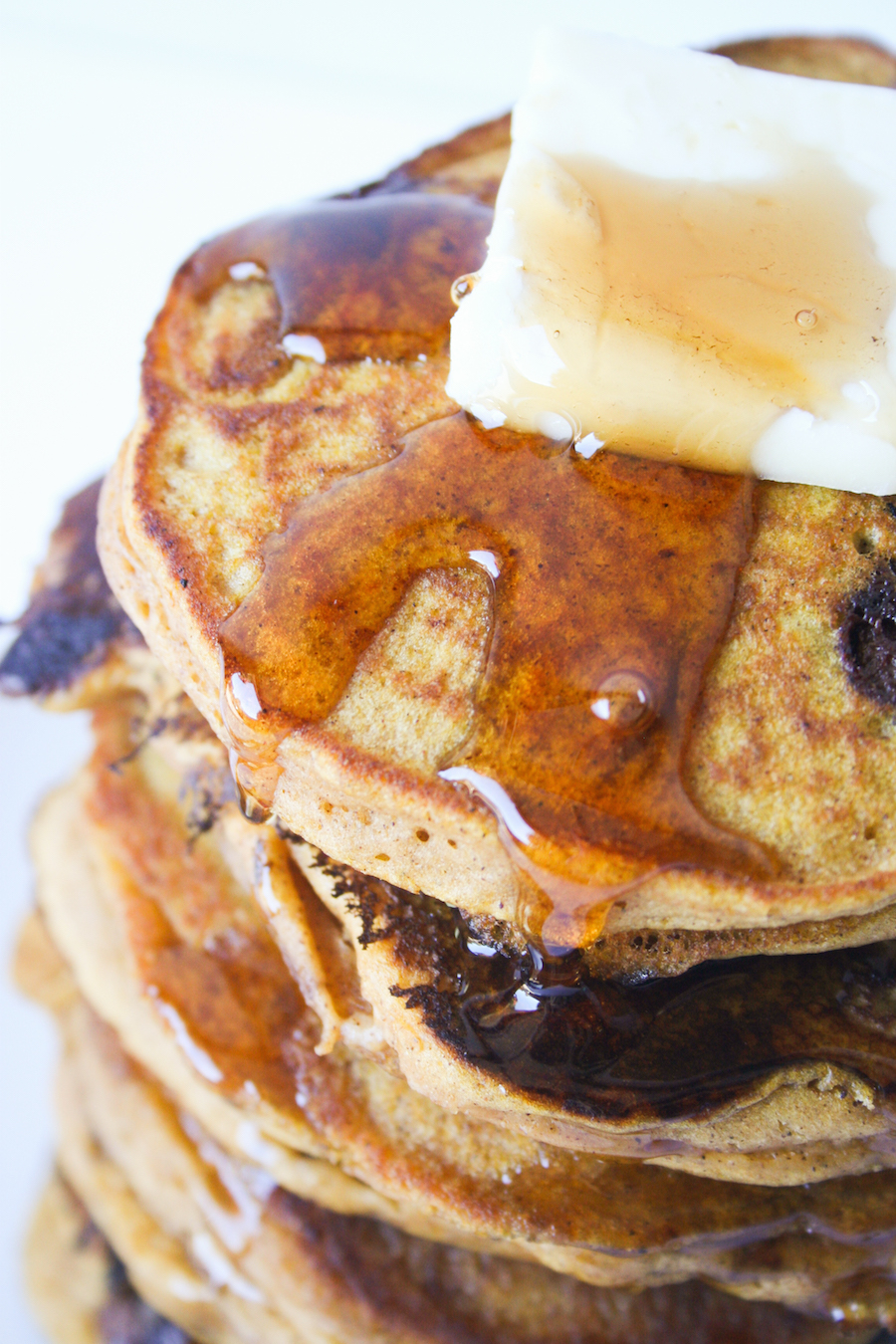 Chocolate Chip Pumpkin Pancakes // Legal Miss Sunshine