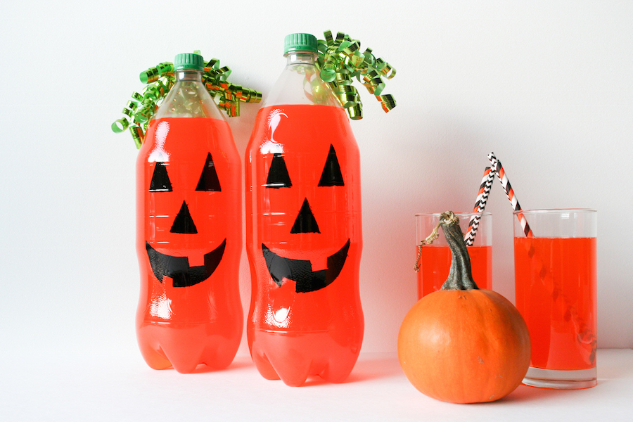 DIY Fanta Jack O Lantern for Halloween // Legal Miss Sunshine