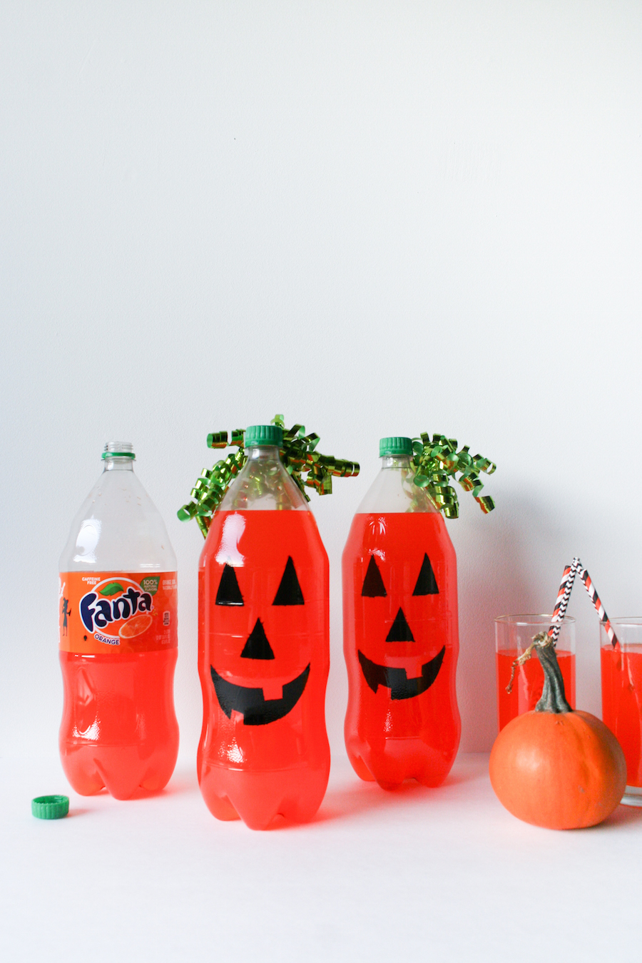 DIY Fanta Jack O Lantern for Halloween // Legal Miss Sunshine