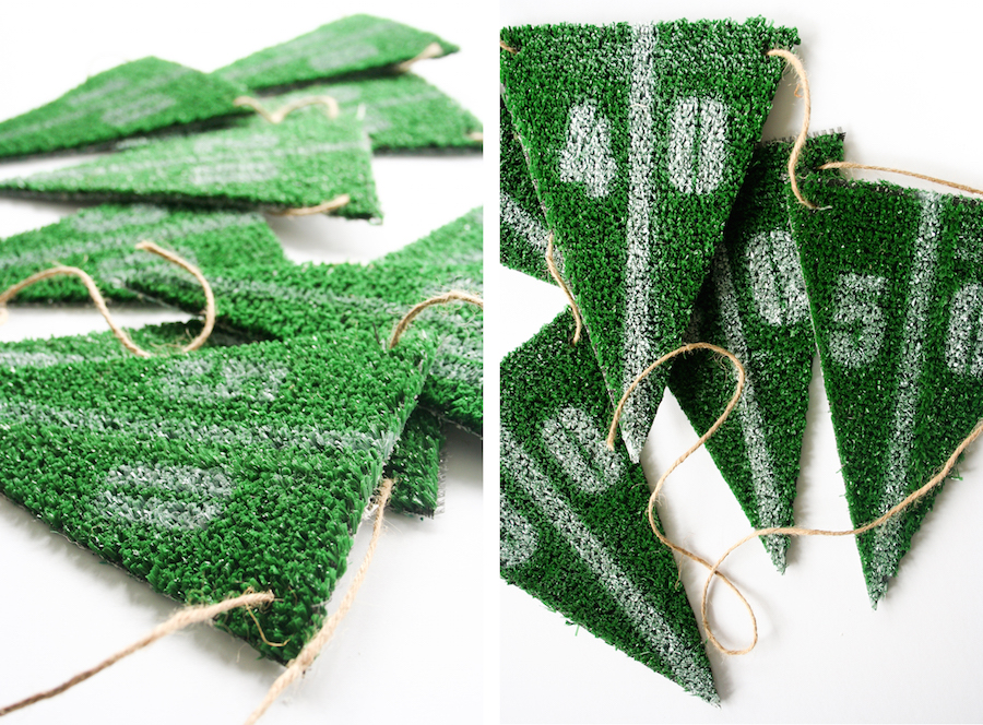 DIY Football Party Astroturf Bunting // Legal Miss Sunshine