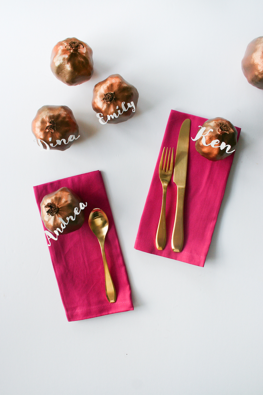 DIY Pomegranate Place Cards for Thanksgiving // Legal Miss Sunshine