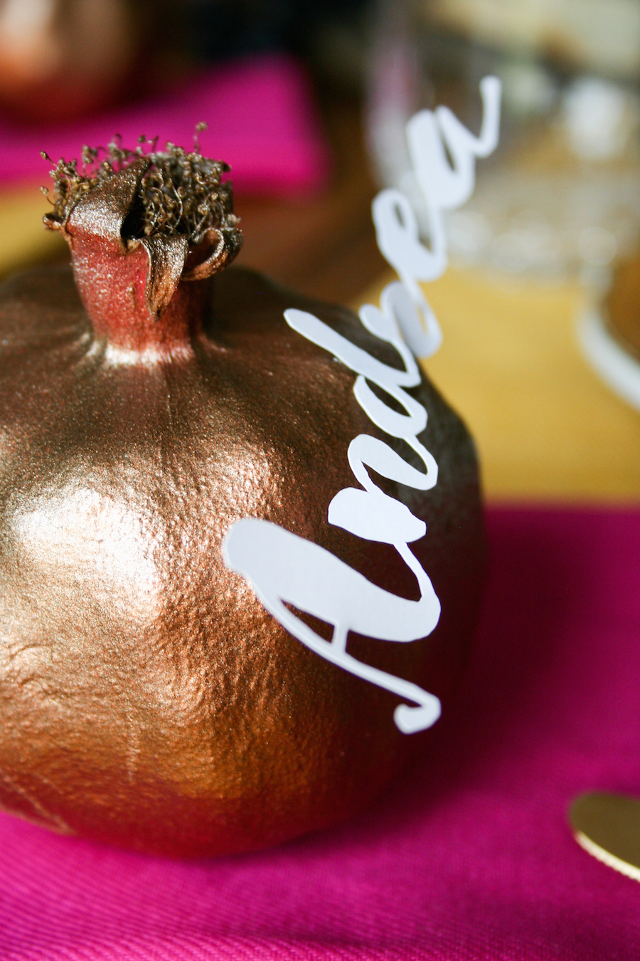 DIY Pomegranate Placecard for Thanksgiving // Legal Miss Sunshine