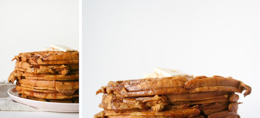 Pumpkin Waffles with Apple Cider Syrup // Legal Miss Sunshine