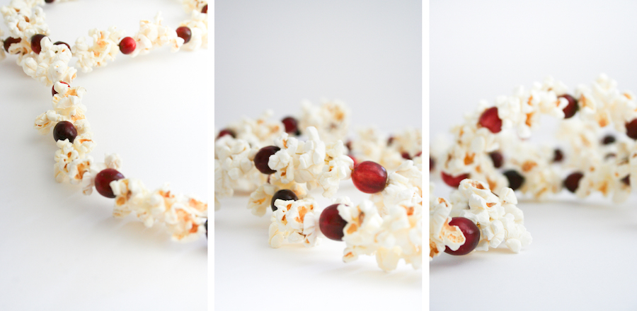 Cranberry and Popcorn Christmas Tree Garland // Legal Miss Sunshine