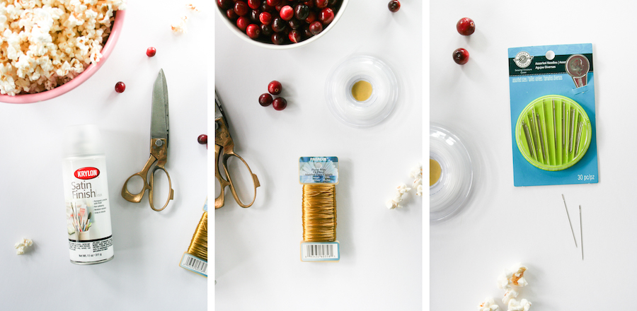 DIY Popcorn and Cranberry Garland for Christmas Tree or Party // Legal Miss Sunshine