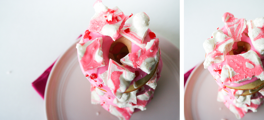 Pink Peppermint Eggnog Donuts // 25 Days of Donuts // Legal Miss Sunshine