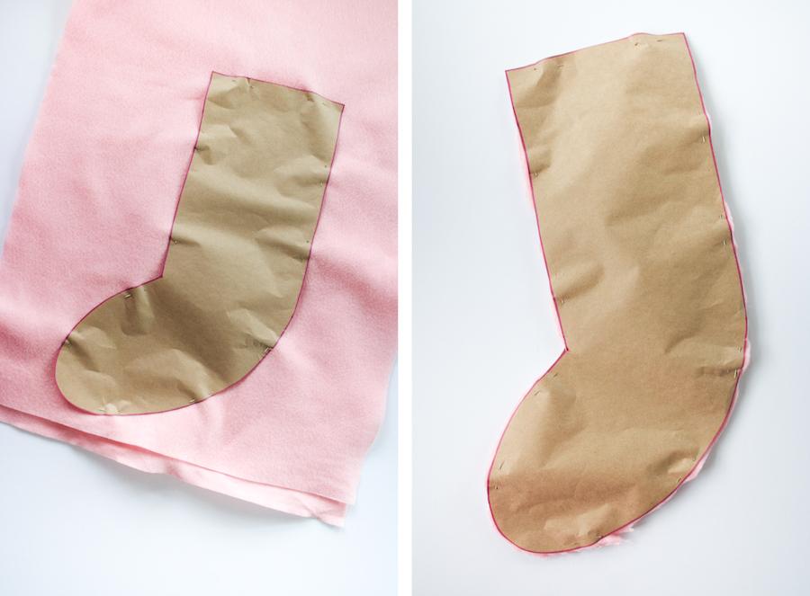 DIY No Sew Christmas Stocking // Legal Miss Sunshine